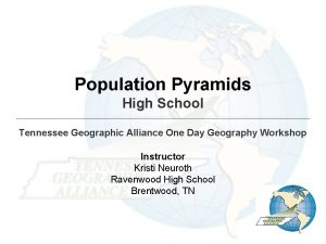Population Pyramids High School Tennessee Geographic Alliance One