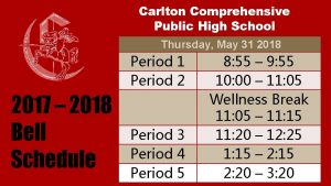 Carlton Comprehensive Public High School Thursday May 31