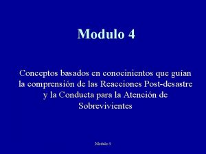 Modulo 4 Conceptos basados en conocinientos que guan