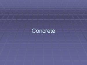 Concrete One Definition of Portland Cement Concrete Portland