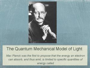 The Quantum Mechanical Model of Light Max Planck