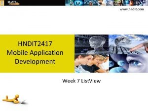 www hndit com HNDIT 2417 Mobile Application Development