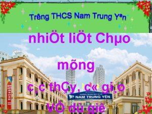 nhit lit Cho mng cc thy c gio