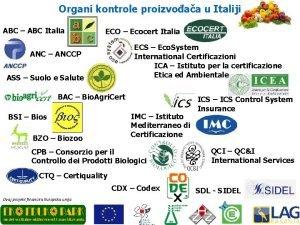 Organi kontrole proizvoaa u Italiji ABC ABC Italia
