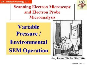 Scanning Electron Microscopy and Electron Probe Microanalysis Variable