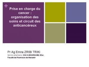 Prise en charge du cancer organisation des soins