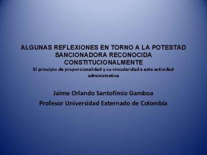 ALGUNAS REFLEXIONES EN TORNO A LA POTESTAD SANCIONADORA