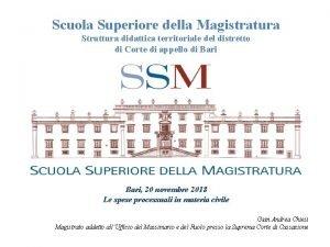 Scuola Superiore della Magistratura Struttura didattica territoriale del