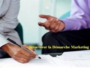 Structurer la Dmarche Marketing 1 Structurer la Dmarche