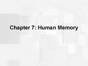 Chapter 7 Human Memory Human Memory Basic Questions