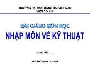 TRNG I HC HNG HI VIT NAM VIN