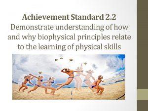 Achievement Standard 2 2 Demonstrate understanding of how