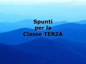 Spunti per la Classe TERZA 12 Adamo Vs