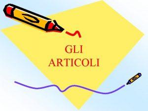 GLI ARTICOLI Indice Larticolo regola pagina 3 Larticolo