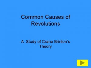 Common Causes of Revolutions A Study of Crane