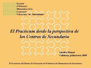 Societat dEducaci Matemtica de la Comunitat Valenciana al