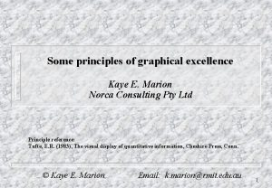 Some principles of graphical excellence Kaye E Marion