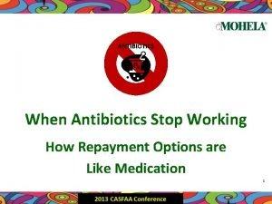 ANTIBIOTICS When Antibiotics Stop Working How Repayment Options