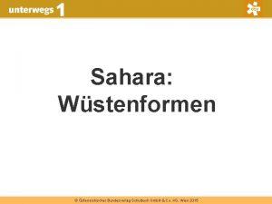 Sahara Wstenformen sterreichischer Bundesverlag Schulbuch Gmb H Co