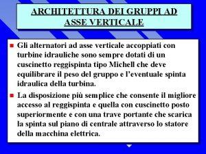 ARCHITETTURA DEI GRUPPI AD ASSE VERTICALE n n