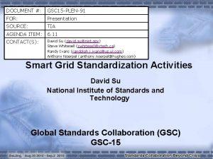 DOCUMENT GSC 15 PLEN91 FOR Presentation SOURCE TIA