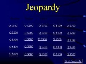 Jeopardy Peer Pressure Bullies Kelso Communication Q 100