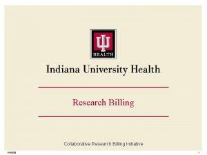 Research Billing Collaborative Research Billing Initiative 1162020 1