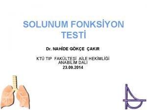 SOLUNUM FONKSYON TEST Dr NAHDE GKE AKIR KT