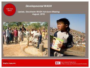 Federation Health WASH Wat SanEH www ifrc org