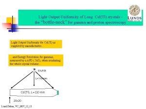 Light Output Uniformity of Long Cs ITl crystals