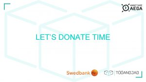 LETS DONATE TIME IDEA Employers give their employees