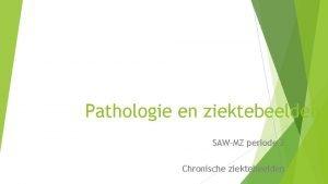 Pathologie en ziektebeelden SAWMZ periode 2 Chronische ziektebeelden