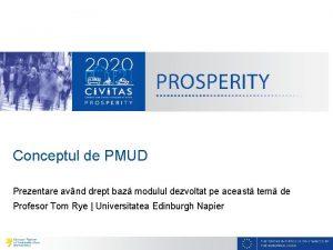 Conceptul de PMUD Prezentare avnd drept baz modulul