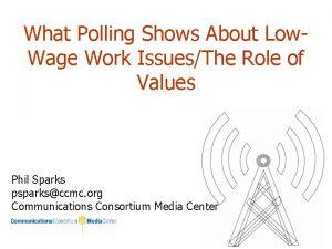 What Polling Shows About Low Wage Work IssuesThe
