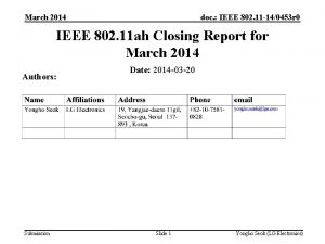 March 2014 doc IEEE 802 11 140453 r