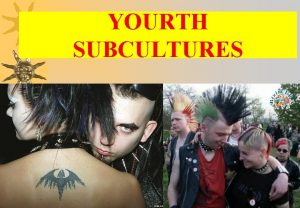 YOURTH SUBCULTURES THE DEFINITION OF A SUBCULTURE A