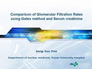 Comparison of Glomerular Filtration Rates using Gates method