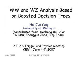 WW and WZ Analysis Based on Boosted Decision