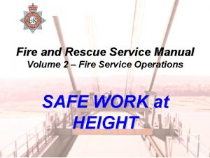 Fire and Rescue Service Manual Volume 2 Fire