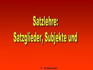 F Tochtermann Inhalt Der einfache Satz Die Satzendzeichen