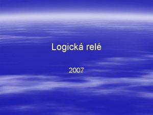Logick rel 2007 Logick rel ady CL nov