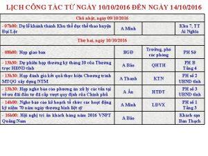 LCH CNG TC T NGY 10102016 N NGY
