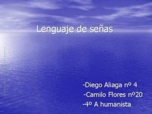 Lenguaje de seas Diego Aliaga n 4 Camilo