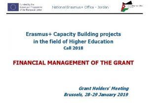 National Erasmus Office Jordan Erasmus Capacity Building projects