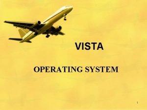 VISTA OPERATING SYSTEM 1 VISTA OPERATING SYSTEM Software