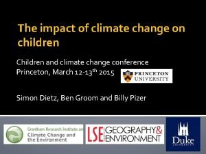 The impact of climate change on children Children