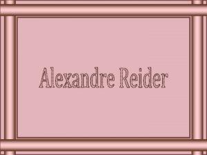 Alexandre Reider nascido em So Paulo Brasil em