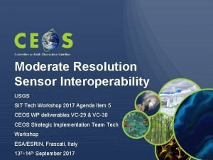 Committee on Earth Observation Satellites Moderate Resolution Sensor