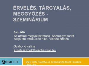RVELS TRGYALS MEGGYZS SZEMINRIUM 5 6 ra Az