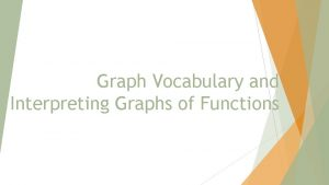 Graph Vocabulary and Interpreting Graphs of Functions Graph